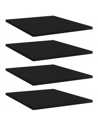 Knygų lentynos plokštės, 4vnt., juodos, 40x50x1,5cm, MDP | Lentynų priedai | duodu.lt