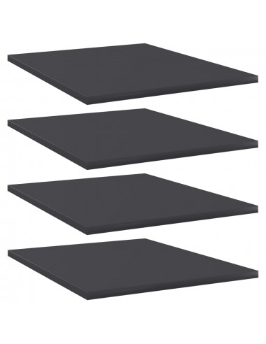 Knygų lentynos plokštės, 4vnt., pilkos, 40x50x1,5cm, MDP | Lentynų priedai | duodu.lt