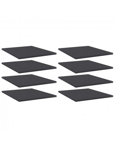 Knygų lentynos plokštės, 8vnt., pilkos, 40x50x1,5cm, MDP   Lentynų priedai   duodu.lt