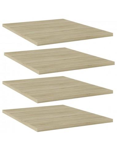 Knygų lentynos plokštės, 4vnt., ąžuolo, 40x50x1,5cm, MDP | Lentynų priedai | duodu.lt