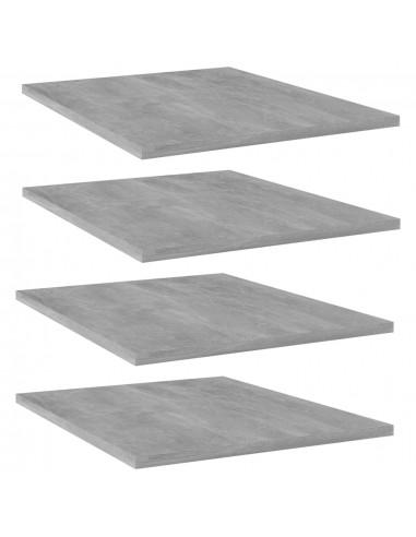 Knygų lentynos plokštės, 4vnt., betono pilkos, 40x50x1,5cm, MDP   Lentynų priedai   duodu.lt