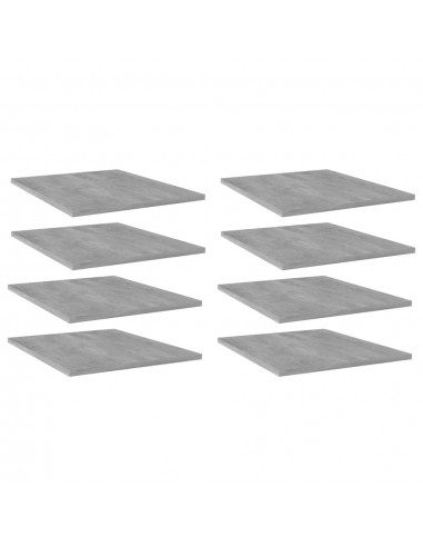 Knygų lentynos plokštės, 8vnt., betono pilkos, 40x50x1,5cm, MDP | Lentynų priedai | duodu.lt