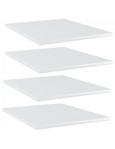 Knygų lentynos plokštės, 4vnt., baltos, 40x50x1,5cm, MDP | Lentynų priedai | duodu.lt