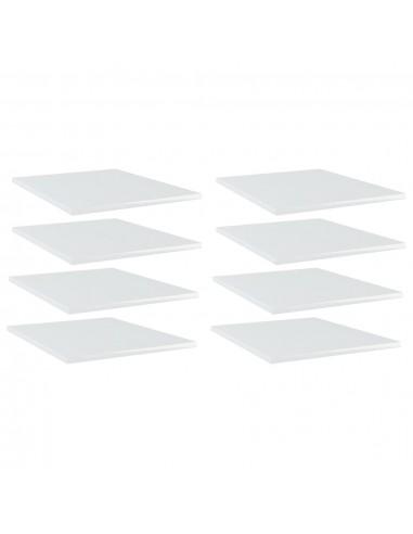 Knygų lentynos plokštės, 8vnt., baltos, 40x50x1,5cm, MDP | Lentynų priedai | duodu.lt