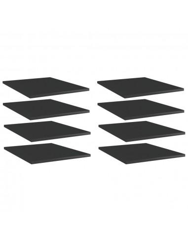 Knygų lentynos plokštės, 8vnt., juodos, 40x50x1,5cm, MDP | Lentynų priedai | duodu.lt