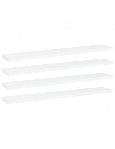 Knygų lentynos plokštės, 4vnt., baltos, 60x10x1,5cm, MDP | Lentynų priedai | duodu.lt