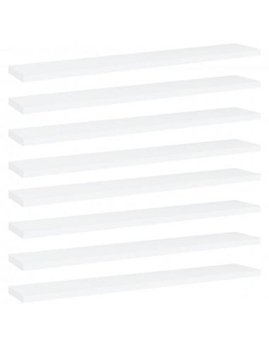 Knygų lentynos plokštės, 8vnt., baltos, 60x10x1,5cm, MDP | Lentynų priedai | duodu.lt