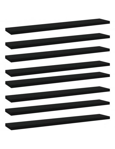 Knygų lentynos plokštės, 8vnt., juodos, 60x10x1,5cm, MDP | Lentynų priedai | duodu.lt