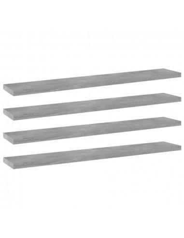 Knygų lentynos plokštės, 4vnt., betono pilkos, 60x10x1,5cm, MDP | Lentynų priedai | duodu.lt