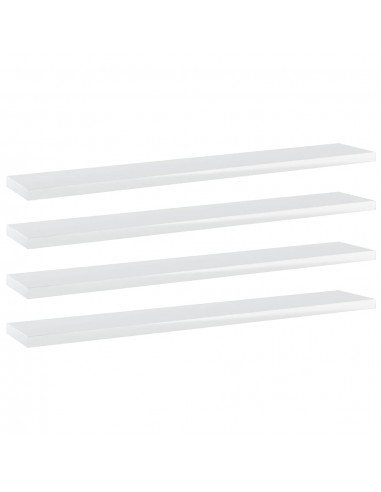 Knygų lentynos plokštės, 4vnt., baltos, 60x10x1,5cm, MDP   Lentynų priedai   duodu.lt