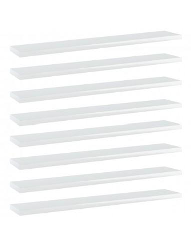 Knygų lentynos plokštės, 8vnt., baltos, 60x10x1,5cm, MDP   Lentynų priedai   duodu.lt