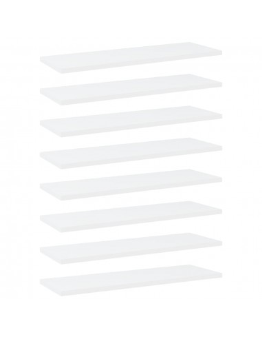 Knygų lentynos plokštės, 8vnt., baltos, 60x20x1,5cm, MDP | Lentynų priedai | duodu.lt