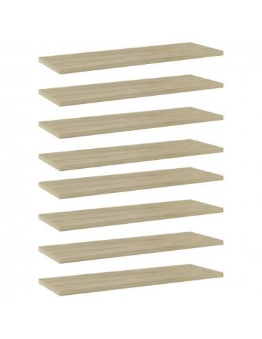 Knygų lentynos plokštės, 8vnt., ąžuolo, 60x20x1,5cm, MDP | Lentynų priedai | duodu.lt