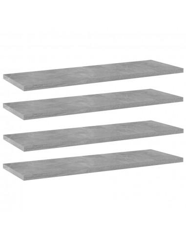 Knygų lentynos plokštės, 4vnt., betono pilkos, 60x20x1,5cm, MDP   Lentynų priedai   duodu.lt