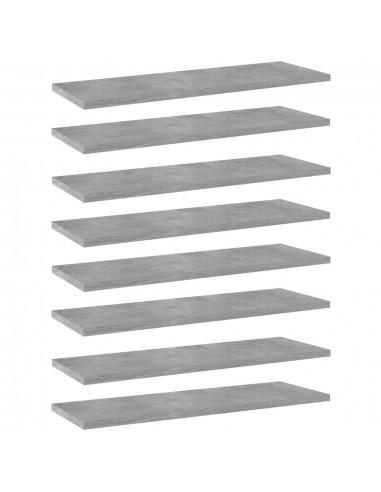 Knygų lentynos plokštės, 8vnt., betono pilkos, 60x20x1,5cm, MDP   Lentynų priedai   duodu.lt
