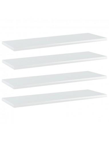Knygų lentynos plokštės, 4vnt., baltos, 60x20x1,5cm, MDP | Lentynų priedai | duodu.lt