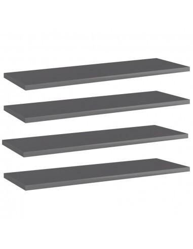 Knygų lentynos plokštės, 4vnt., pilkos, 60x20x1,5cm, MDP | Lentynų priedai | duodu.lt