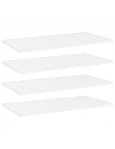Knygų lentynos plokštės, 4vnt., baltos, 60x30x1,5cm, MDP   Lentynų priedai   duodu.lt