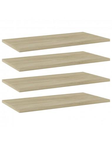 Knygų lentynos plokštės, 4vnt., ąžuolo, 60x30x1,5cm, MDP | Lentynų priedai | duodu.lt