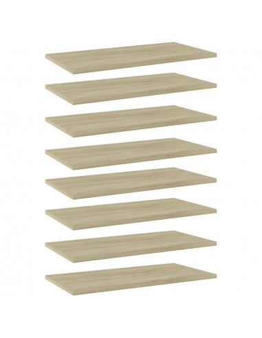 Knygų lentynos plokštės, 8vnt., ąžuolo, 60x30x1,5cm, MDP | Lentynų priedai | duodu.lt
