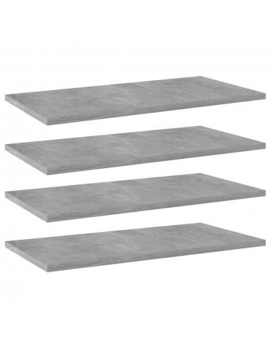 Knygų lentynos plokštės, 4vnt., betono pilkos, 60x30x1,5cm, MDP   Lentynų priedai   duodu.lt