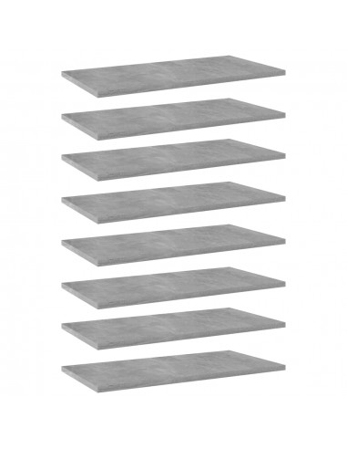 Knygų lentynos plokštės, 8vnt., betono pilkos, 60x30x1,5cm, MDP   Lentynų priedai   duodu.lt