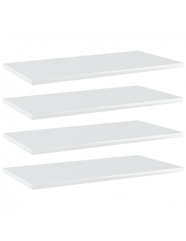 Knygų lentynos plokštės, 4vnt., baltos, 60x30x1,5cm, MDP | Lentynų priedai | duodu.lt