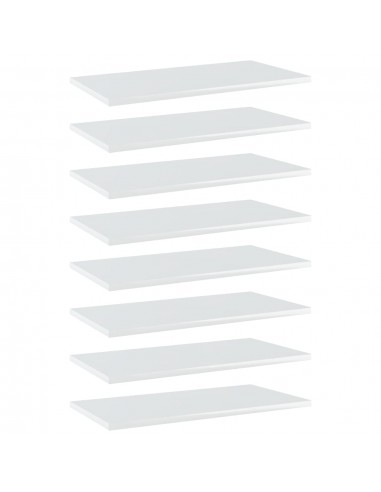 Knygų lentynos plokštės, 8vnt., baltos, 60x30x1,5cm, MDP | Lentynų priedai | duodu.lt