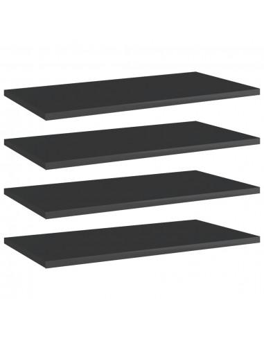 Knygų lentynos plokštės, 4vnt., juodos, 60x30x1,5cm, MDP   Lentynų priedai   duodu.lt