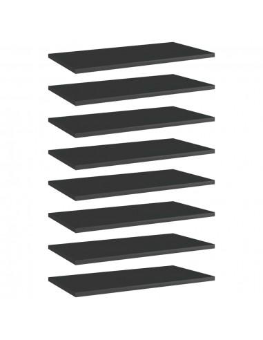 Knygų lentynos plokštės, 8vnt., juodos, 60x30x1,5cm, MDP   Lentynų priedai   duodu.lt