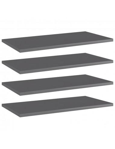 Knygų lentynos plokštės, 4vnt., pilkos, 60x30x1,5cm, MDP | Lentynų priedai | duodu.lt