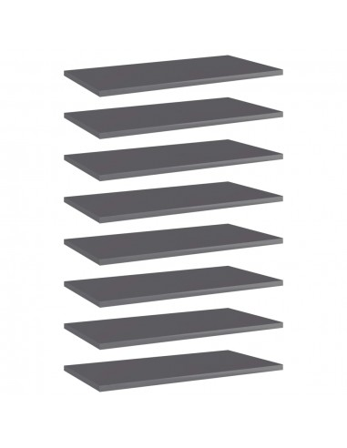 Knygų lentynos plokštės, 8vnt., pilkos, 60x30x1,5cm, MDP | Lentynų priedai | duodu.lt