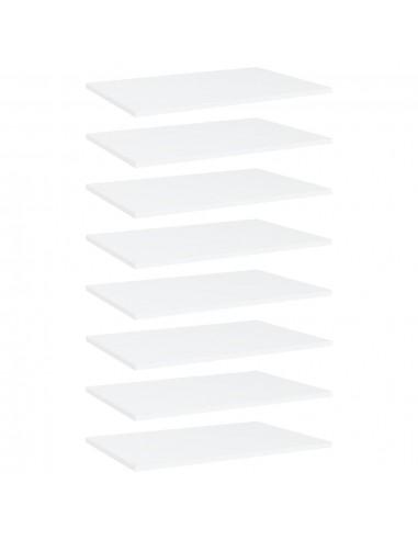 Knygų lentynos plokštės, 8vnt., baltos, 60x40x1,5cm, MDP   Lentynų priedai   duodu.lt