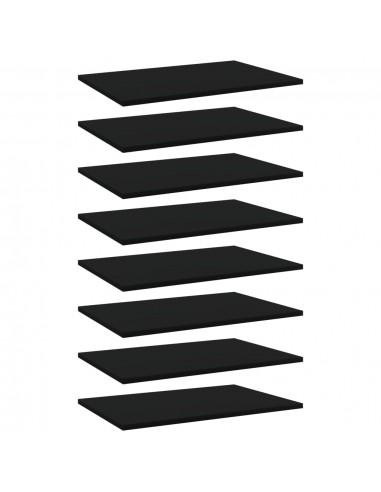 Knygų lentynos plokštės, 8vnt., juodos, 60x40x1,5cm, MDP | Lentynų priedai | duodu.lt