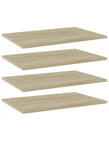 Knygų lentynos plokštės, 4vnt., ąžuolo, 60x40x1,5cm, MDP | Lentynų priedai | duodu.lt