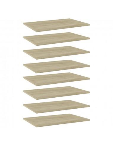 Knygų lentynos plokštės, 8vnt., ąžuolo, 60x40x1,5cm, MDP | Lentynų priedai | duodu.lt
