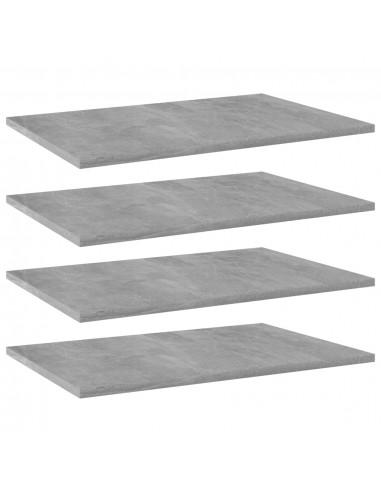 Knygų lentynos plokštės, 4vnt., betono pilkos, 60x40x1,5cm, MDP   Lentynų priedai   duodu.lt