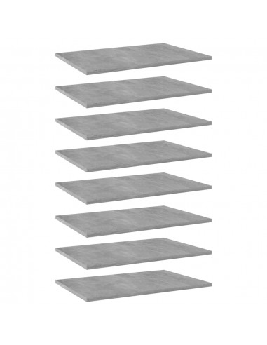 Knygų lentynos plokštės, 8vnt., betono pilkos, 60x40x1,5cm, MDP   Lentynų priedai   duodu.lt