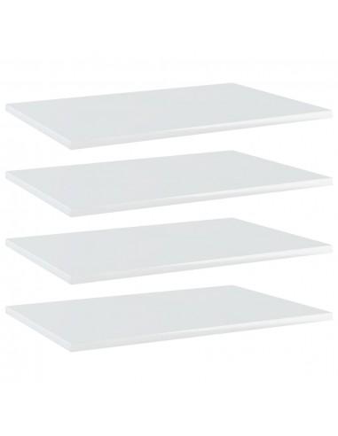Knygų lentynos plokštės, 4vnt., baltos, 60x40x1,5cm, MDP   Lentynų priedai   duodu.lt