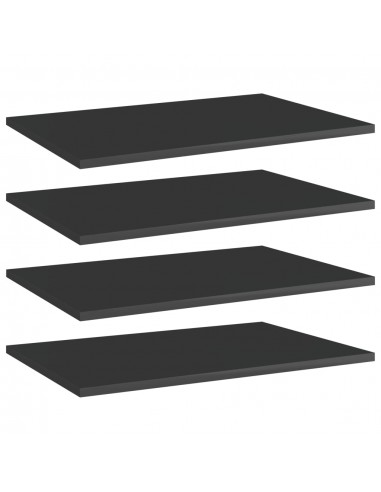 Knygų lentynos plokštės, 4vnt., juodos, 60x40x1,5cm, MDP | Lentynų priedai | duodu.lt
