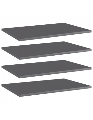Knygų lentynos plokštės, 4vnt., pilkos, 60x40x1,5cm, MDP   Lentynų priedai   duodu.lt