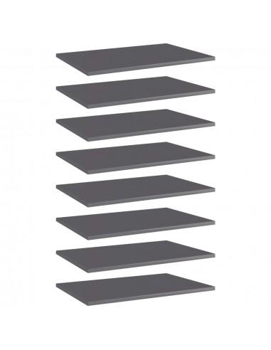 Knygų lentynos plokštės, 8vnt., pilkos, 60x40x1,5cm, MDP | Lentynų priedai | duodu.lt
