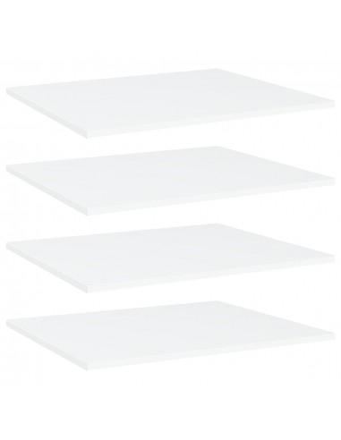 Knygų lentynos plokštės, 4vnt., baltos, 60x50x1,5cm, MDP | Lentynų priedai | duodu.lt