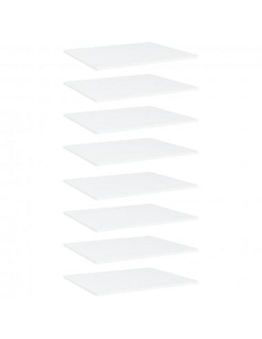 Knygų lentynos plokštės, 8vnt., baltos, 60x50x1,5cm, MDP | Lentynų priedai | duodu.lt