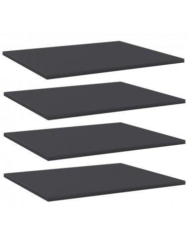 Knygų lentynos plokštės, 4vnt., pilkos, 60x50x1,5cm, MDP | Lentynų priedai | duodu.lt