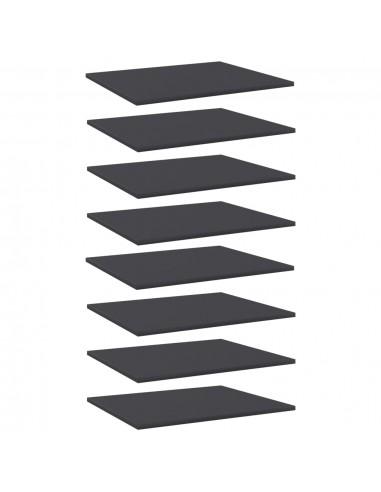 Knygų lentynos plokštės, 8vnt., pilkos, 60x50x1,5cm, MDP   Lentynų priedai   duodu.lt