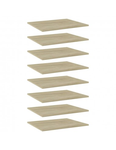 Knygų lentynos plokštės, 8vnt., ąžuolo, 60x50x1,5cm, MDP | Lentynų priedai | duodu.lt