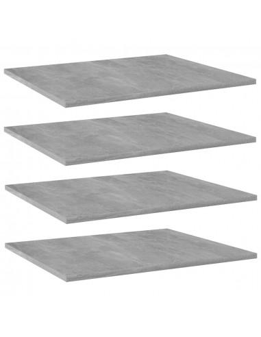 Knygų lentynos plokštės, 4vnt., betono pilkos, 60x50x1,5cm, MDP   Lentynų priedai   duodu.lt