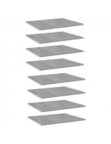 Knygų lentynos plokštės, 8vnt., betono pilkos, 60x50x1,5cm, MDP | Lentynų priedai | duodu.lt
