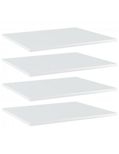 Knygų lentynos plokštės, 4vnt., baltos, 60x50x1,5cm, MDP   Lentynų priedai   duodu.lt